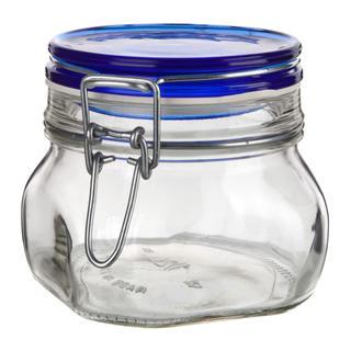 Borcan din sticlă cu închidere clip, 0,5 l