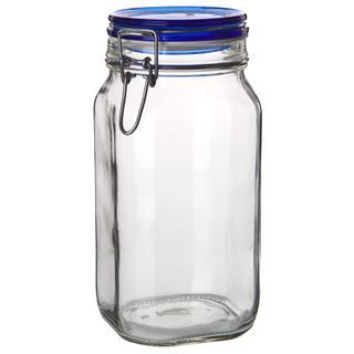 Borcan din sticlă cu închidere clip, 1,5 l