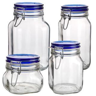 Borcan din sticlă cu închidere clip