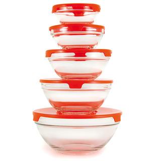 Vase de sticla cu capac 5 bucati Bergamo, BANQUET