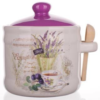 Bol din ceramică cu linguriţă Lavender, BANQUET