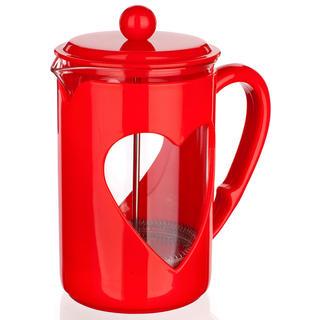 Ibric din sticlă pentru cafea 800 ml Darby, BANQUET rosie