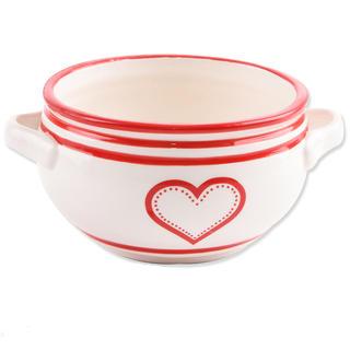 Bol din ceramică KRAJAC 700 ml Inimă