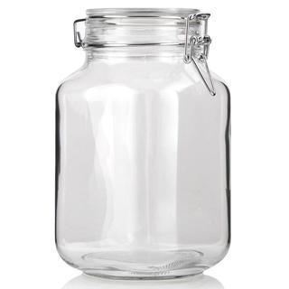 Borcan cu închidere ermetică 2 l cu capac din sticlă Super Value