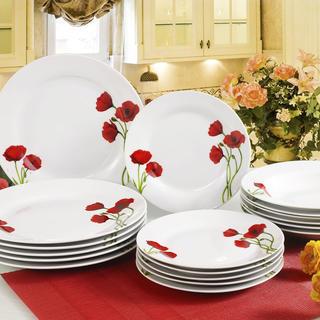 Banquet set farfurii din porţelan POPPY 18 buc