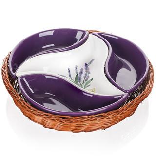 Bol din ceramică pentru servire din 4 piese LAVENDER, BANQUET