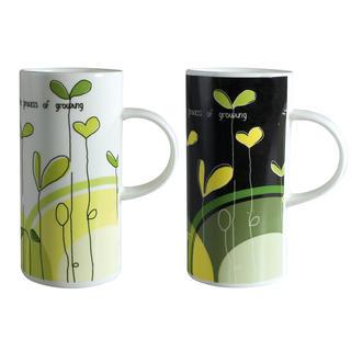 Cană din ceramică Modern Plants 420 ml, BANQUET