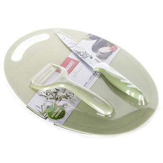 Set de cuțite, decojitor și tocătoare Olives, BANQUET