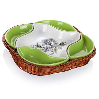 Bol din ceramică pentru servire 5 piese Olives, BANQUET