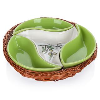 Bol din ceramică pentru servire 4 piese Olives, BANQUET