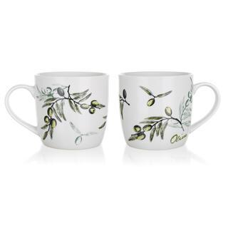 Căni din ceramică Olives 2 bucăți, BANQUET