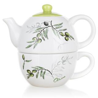 Ceainic din ceramică cu ceașcă, Olives, BANQUET