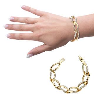Bratara de culoare aurului cu cristale austriece