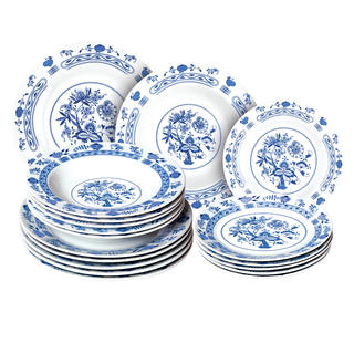 Banquet set farfurii din porţelan ONION 18 buc