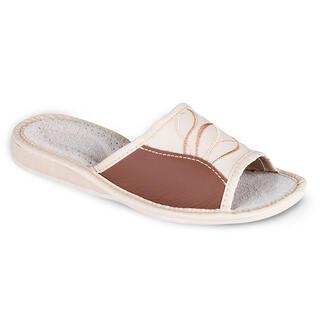 Papuci din piele dama cu model