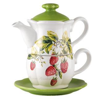 Ceainic din ceramică cu ceașcă FLORINA GARDEN Zmeură