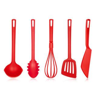 Set ustensile de bucătărie Culinaria, BANQUET, 5 bucăți, roșu