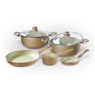 Set Toro - vase ceramică CHAMPAGNE 7 piese