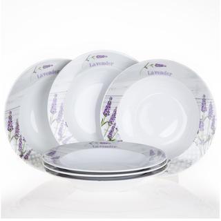 Set farfuri ceramice pentru supa Lavanda, 6 buc