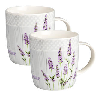 Căni ceramice LAVANDA 320 ml 2 buc