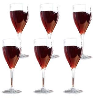 Set pahare de vin din plastic 6 buc