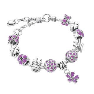 Brăţară cu floricele violet
