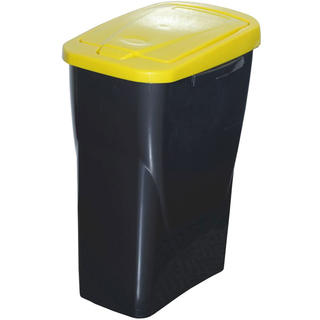 Cos pentru gunoi clasificat, capac galben 25 l