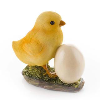 Decoratiune de gradina - puisor cu ou
