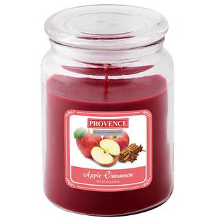 Lumânare în sticlă cu capac, măr și scorțișoară