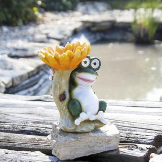 Decorație solară Feeder broască