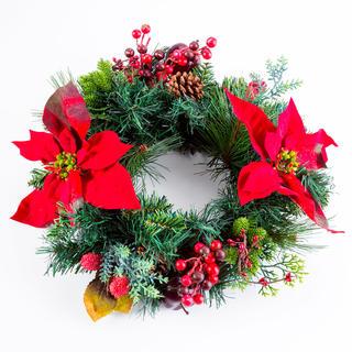 Coroniţă de Crăciun artificială MĂR 40 cm