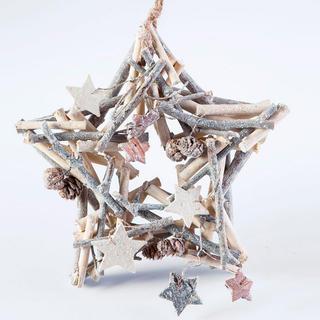 Decoraţie de Crăciun din lemn stea 24 cm
