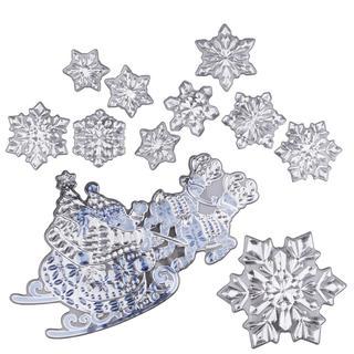 Stickere decorative pentru geam SANIE CU RENI