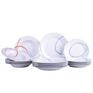 Banquet set farfurii din porţelan PASTEL 18 buc