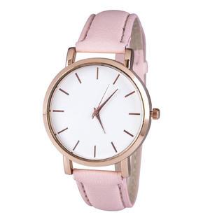 Ceas de damă cu curea roz