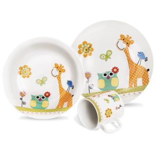 Set de masă pentru copii din porţelan GIRAFĂ 3 buc