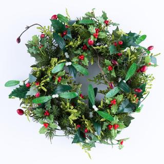 Coroniţă de Crăciun artificială cu vâsc