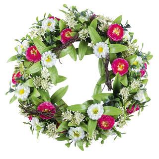 Coroniță artificială de primăvară MARGARETE 25 cm