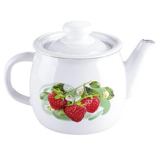 Ceainic emailat cu decor de fructe 1 l