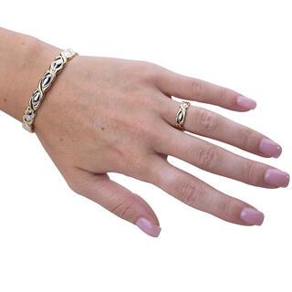 Set brăţară magnetică decorată cu inel