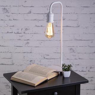 Lampă de masă VINTAGE metalică, albă
