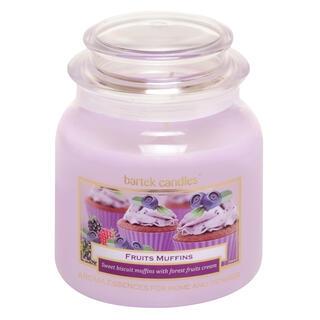 Lumânare în sticlă cu capac MUFFIN Fructe de pădure 430 g