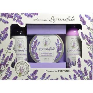 Casetă cadou cosmetice cu ulei de lavandă BT Premium