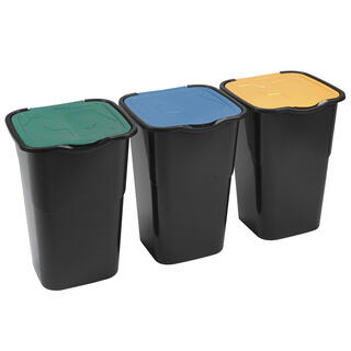 Coşuri pentru sortarea deşeurilor, set 3 buc