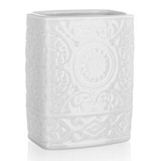 Pahar pentru periuţe de dinţi din ceramică, alb