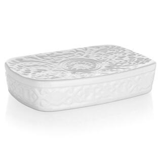 Săpunieră ceramică albă