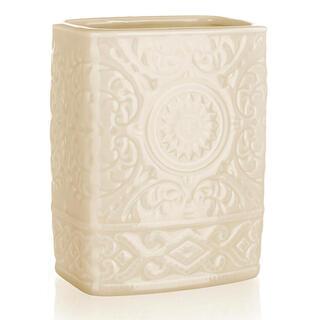 Pahar pentru periuţe de dinţi din ceramică, bej