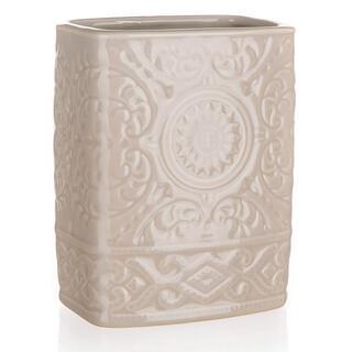 Pahar pentru periuţe de dinţi din ceramică, maro