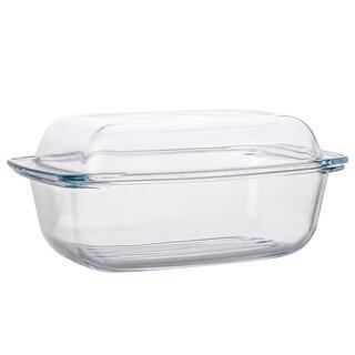 Tavă din sticlă cu capac CLASSIC, dreptunghiulară