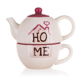 Ceainic ceramic cu cană HOME